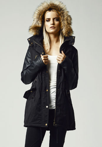 Urban Classics Leather Imitation Sleeve Parka