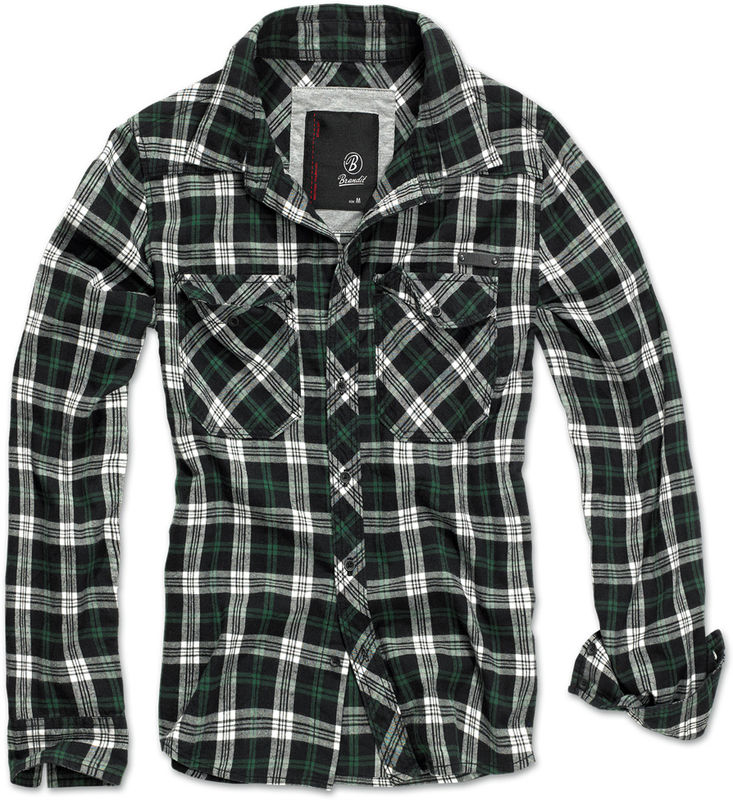 Brandit Check - dress shirt , Black Green