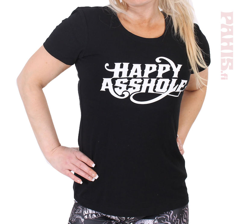 Happy Asshole Lady Fit T-Shirt