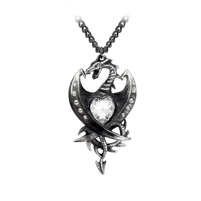Alchemy Gothic Diamond Heart - Necklace