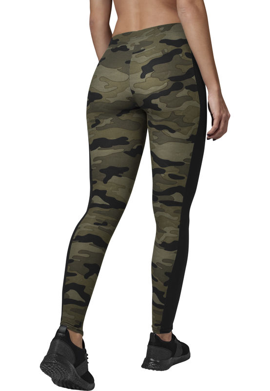 Urban Classics Wood Camo Stripe - leggings