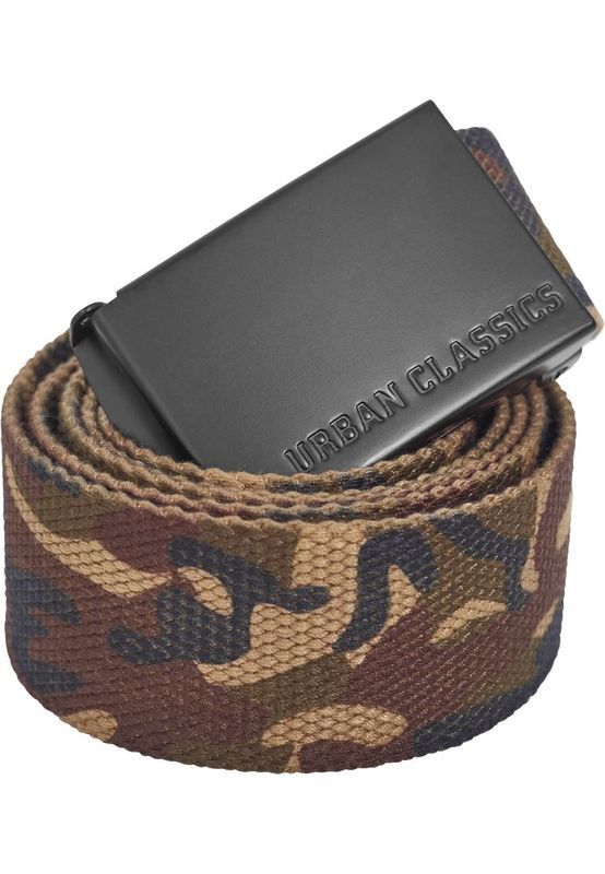 Urban Classics - Canvas belt, woodcamo