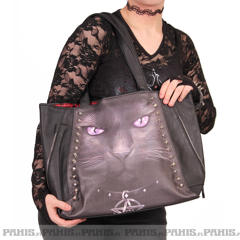 Spiral Black Cat - Hand bag