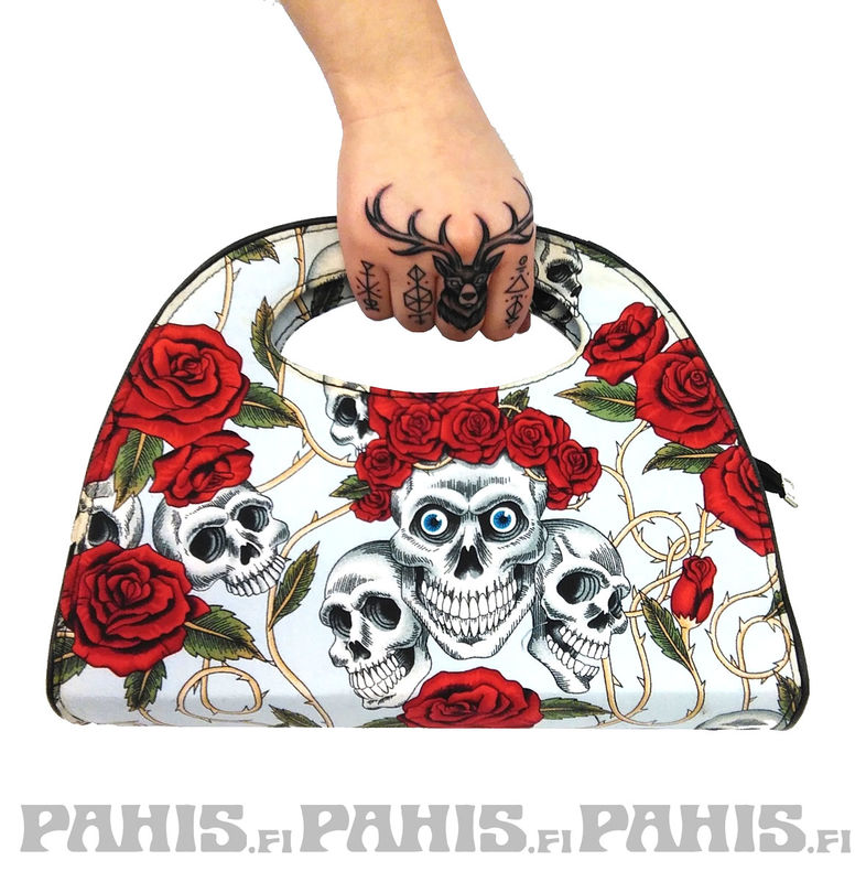 Thornes and Skulls - Hand bag, white